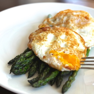 Crispy Eggs and Asparagus