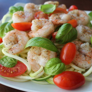 Simple Shrimp Zoodle Salad