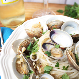 Clams with Quinoa Pasta