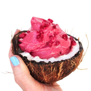 Dairy-free Raspberry Ice Cream