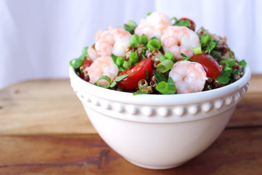 Quinoa Shrimp Salad | Kit's Coastal | #kitscoastal #coastalpaleo