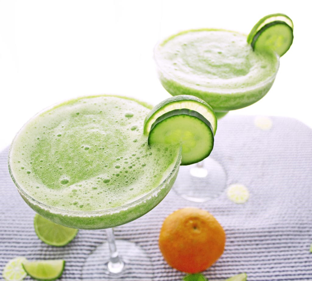 Skinny Cucumber Margaritas (150 calories) | Kit's Coastal | #kitscoastal #coastalpaleo #paleo #glutenfree #dairyfree