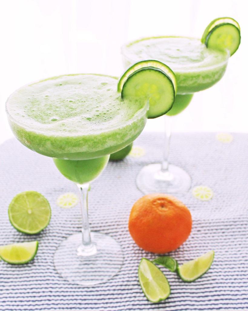Skinny Cucumber Margaritas (150 calories) | Kit's Coastal | #kitscoastal #coastalpaleo #paleo #glutenfree #diaryfree