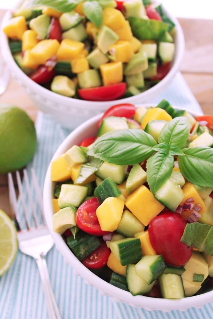 Cucumber Mango Salad | Kit's Coastal | #kitscoastal #coastalpaleo #paleo #glutenfree #dairyfree #vegan