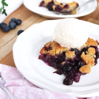 Paleo Blueberry Cobbler
