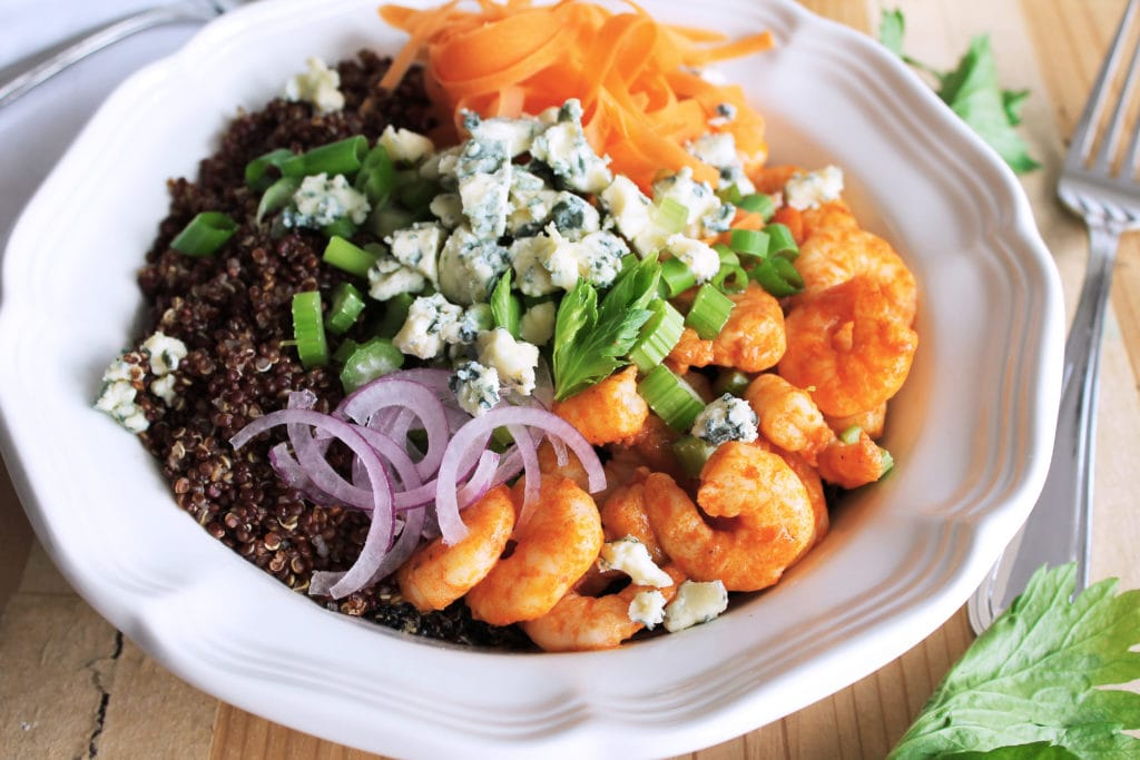 20-Minute Buffalo Shrimp Bowls | Kit's Coastal | #kitscoastal #coastalpaleo #glutenfree #paleo #dairyfree