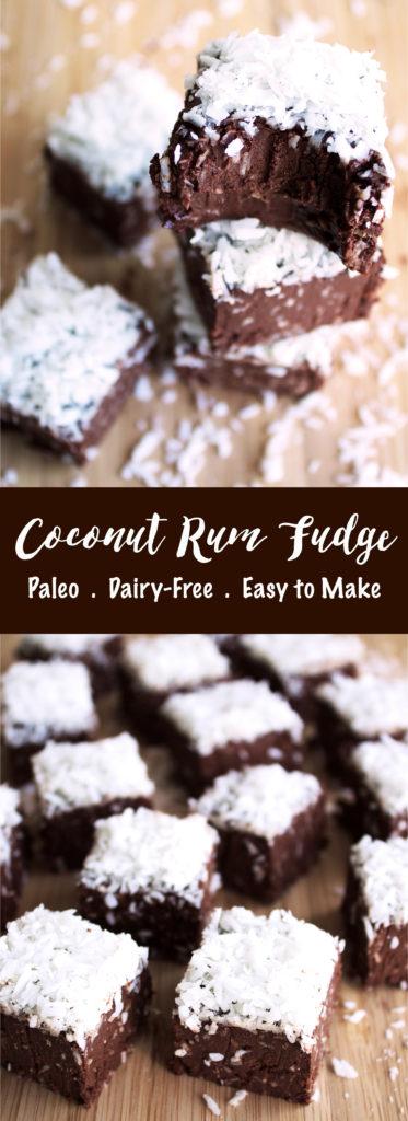 Paleo Coconut Rum Fudge | Kit's Coastal | #kitscoastal #coastalpaleo #paleo #dairyfree #glutenfree