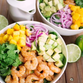 Mango Shrimp Salad with Cilantro Lime Vinaigrette