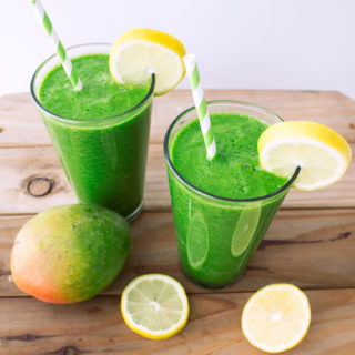 Tropical Green Juice {made in a blender!}