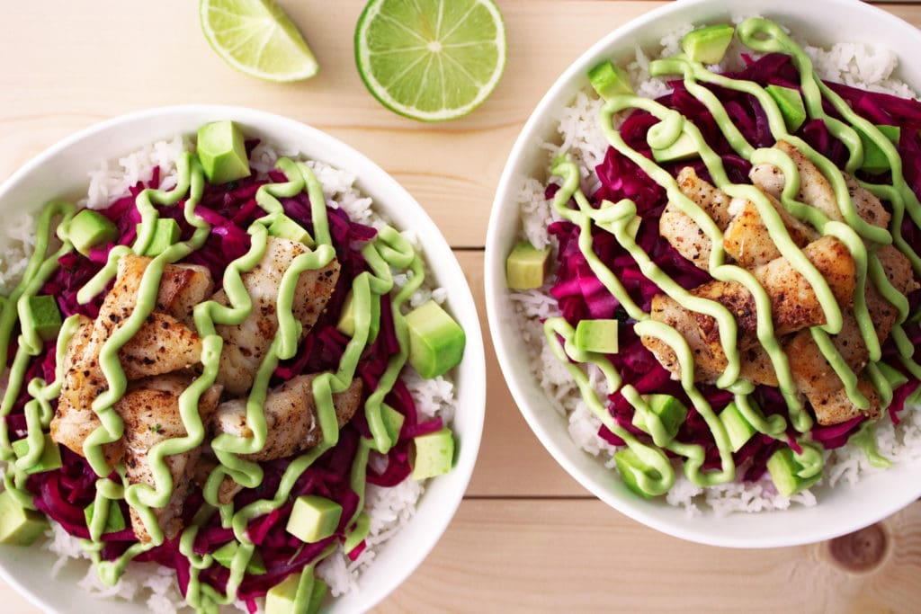 Paleo Baja Fish Taco Bowls | Kit's Coastal | #kitscoastal #coastalpaleo #paleo #glutenfree #dairyfree #whole30