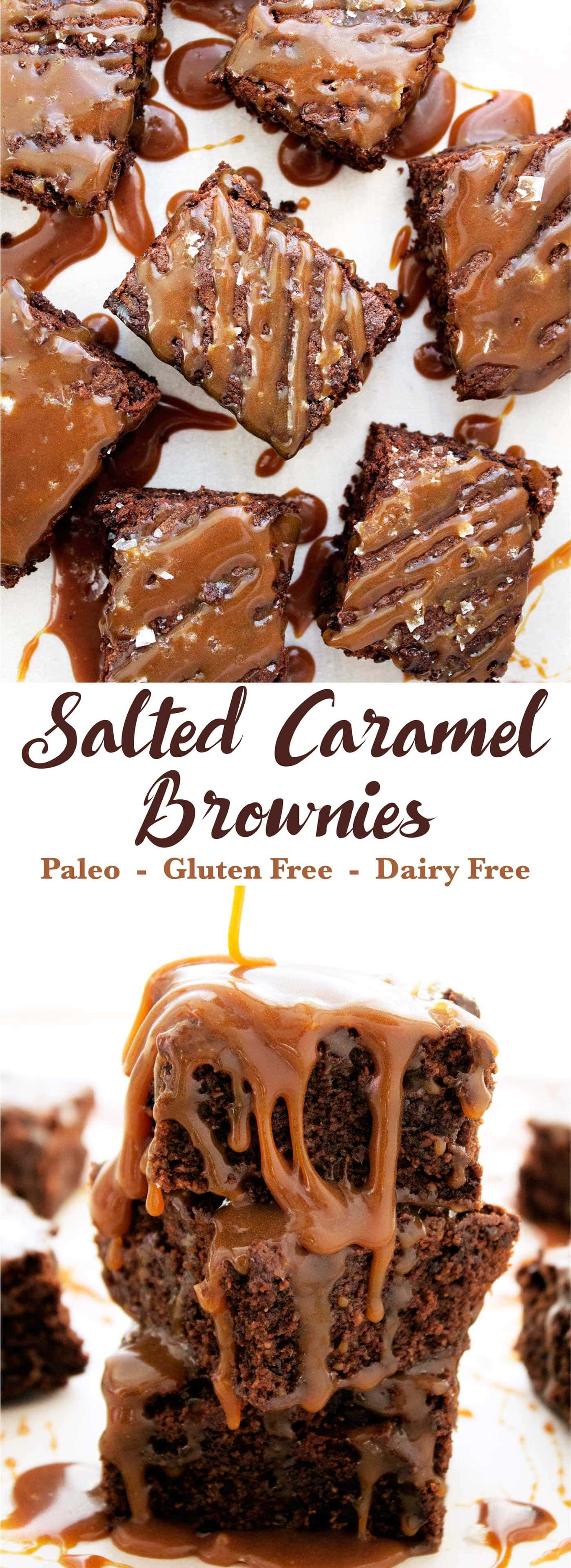 Paleo Salted Caramel Brownies | Kit's Coastal | #kitscoastal #coastalpaleo #paleo #glutenfree #dairyfree #brownies