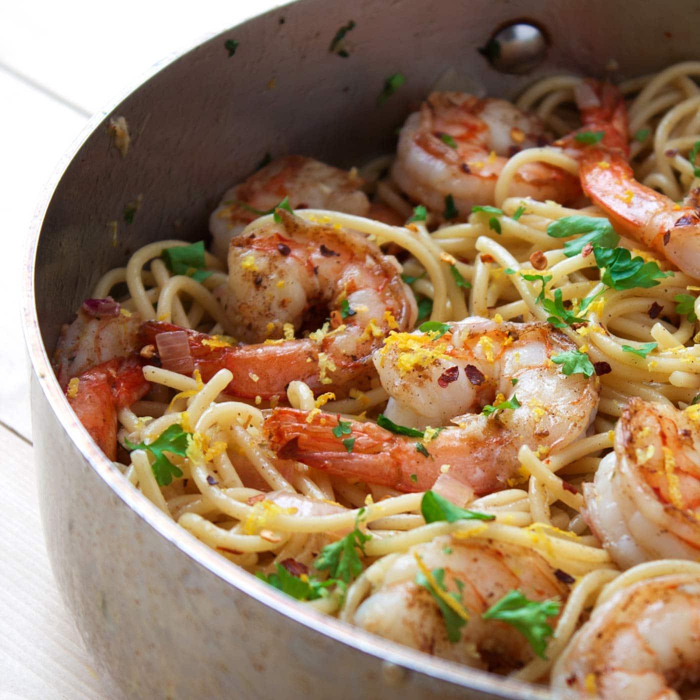 20-Minute Paleo Shrimp Scampi | Kit's Coastal | #kitscoastal #coastalpaleo #paleo #glutenfree #dairyfree #shrimp #shrimpscampi