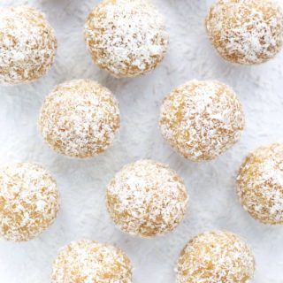 Low Carb Coconut Snowball Cookies