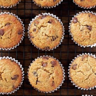 Paleo Banana Chocolate Chip Muffins