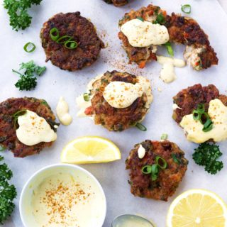 Paleo Shrimp Cakes with Tangy Lemon Aioli