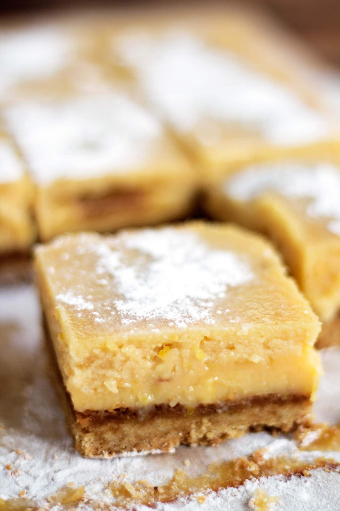 So easy to make! These lemon bars are paleo, gluten free, dairy free, and naturally sweetened with honey and coconut sugar!