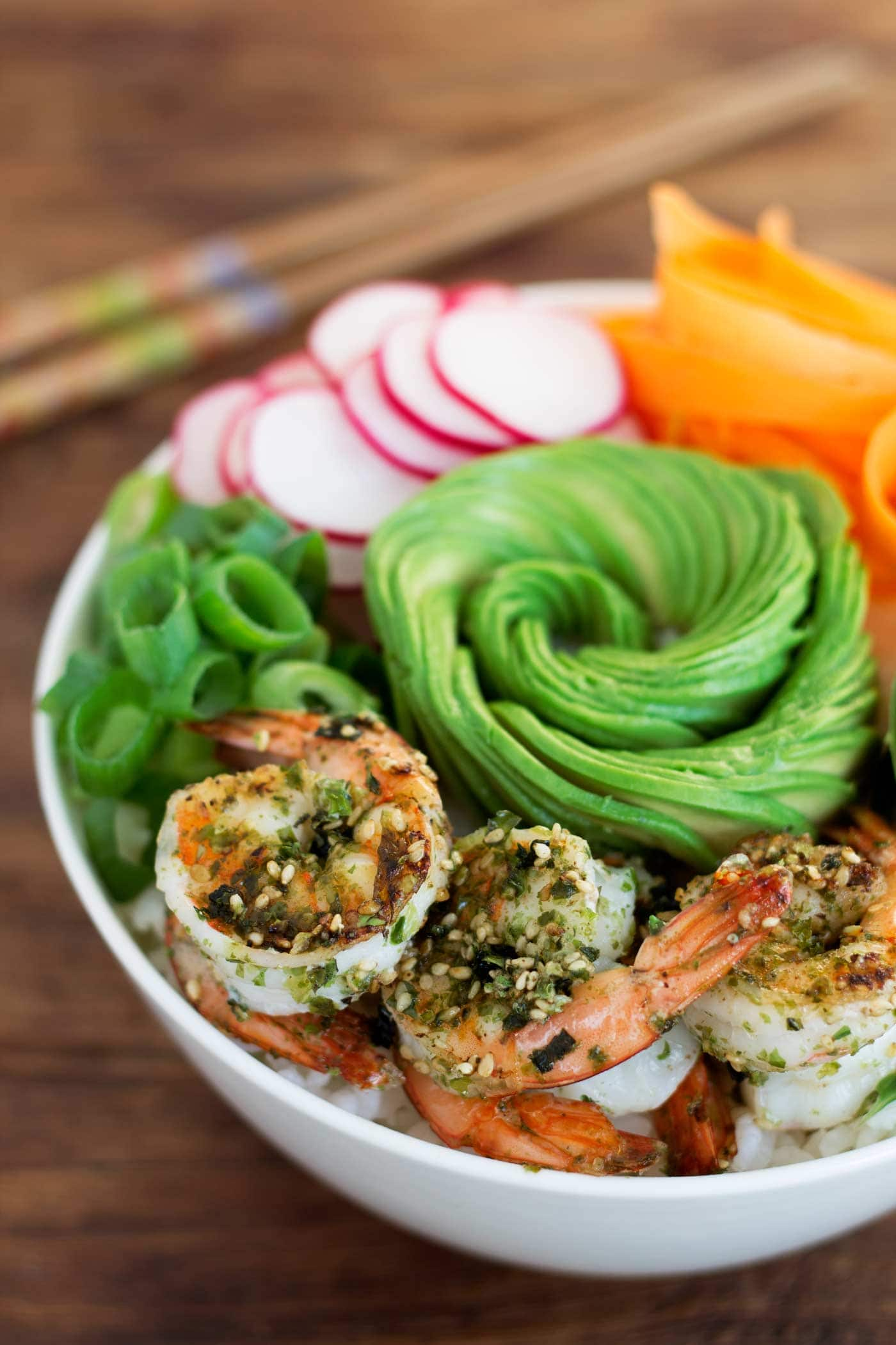 Simple Shrimp Sushi Bowls