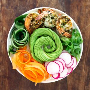 Simple Shrimp Sushi Bowls