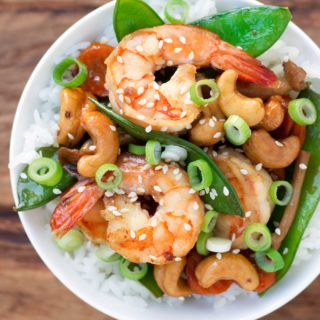 Easy Cashew Shrimp Stir-fry