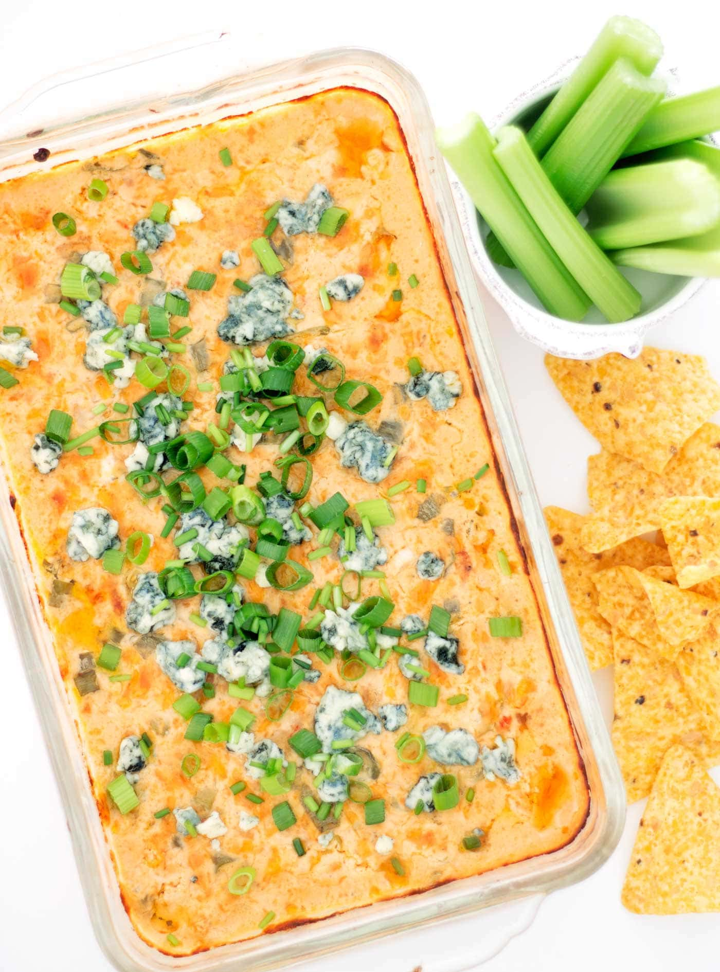Buffalo dip made with shrimp! This game day recipe is perfect for your next party this football season. Easy to make, gluten free, low carb, and keto!