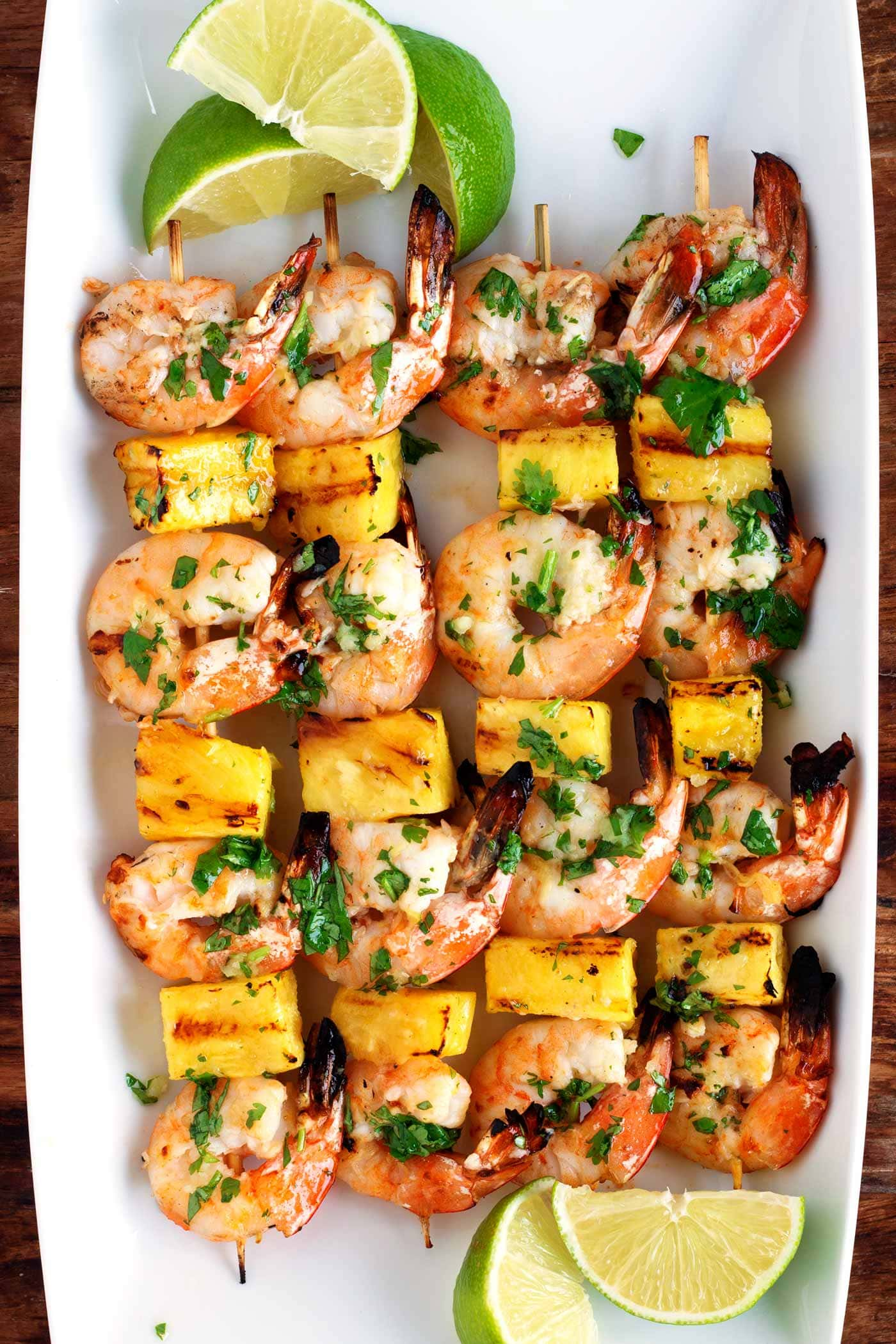 1be30fbc8a733 Grilled Shrimp & Pineapple Skewers with Garlic Cilantro Butter